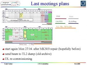 Last meetings plans PHIN Linac PHIN 30 GHz