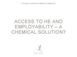 CAVA ANNUAL CONFERENCE CAMBRIDGE NOVEMBER 2013 ACCESS TO