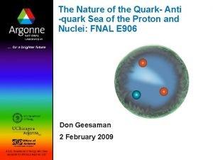 The Nature of the Quark Anti quark Sea