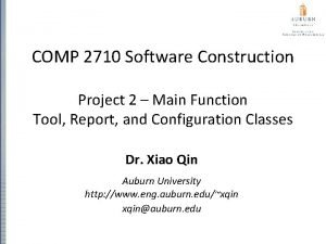 COMP 2710 Software Construction Project 2 Main Function