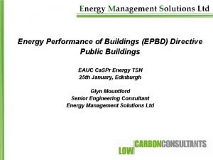Energy Performance of Buildings EPBD Directive Public Buildings