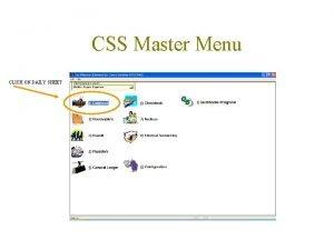 CSS Master Menu CLICK ON DAILY SHEET Daily