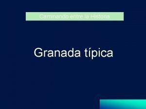 Caminando entre la Historia Granada tpica Puerta de