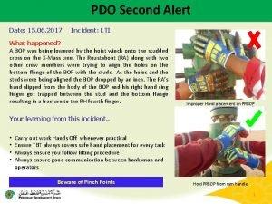 PDO Second Alert Date 15 06 2017 Incident