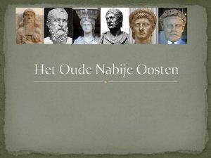 Het Oude Nabije Oosten Te doen Het Oude