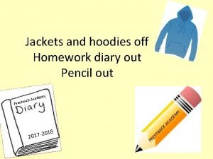 Jackets and hoodies off Homework diary out Pencil