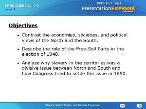 Chapter Section 1 25 Section 1 Objectives Contrast