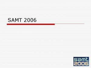 SAMT 2006 Doprovodn akce o LSAS 2006 o