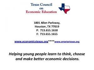 1801 Allen Parkway Houston TX 77019 P 713