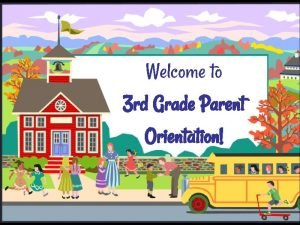 Welcome to 3 rd Grade Parent Orientation Mrs