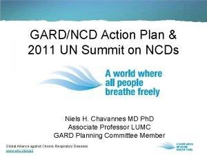GARDNCD Action Plan 2011 UN Summit on NCDs