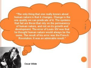 Oscar Wilde E Napp The only thing that