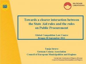Towards a clearer interaction between the State Aid