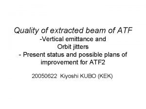 Quality of extracted beam of ATF Vertical emittance