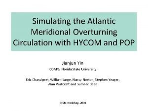 Simulating the Atlantic Meridional Overturning Circulation with HYCOM