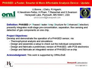 PHASED a Faster Smarter More Affordable Analysis Device