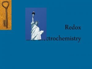 Redox and Electrochemistry Redox Reactions Reduction Oxidation reactions