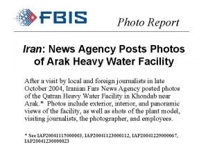 Photo Report Iran News Agency Posts Photos of