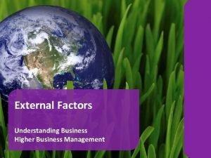 External Factors Understanding Business Higher Business Management Business
