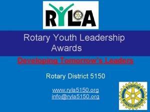 Rotary Youth Leadership Awards Developing Tomorrows Leaders Rotary