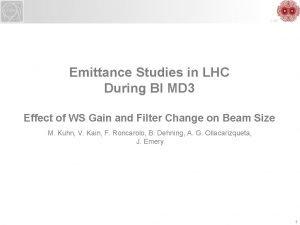 LHC Emittance Studies in LHC During BI MD