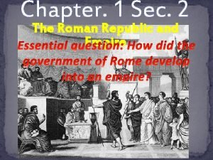 Chapter 1 Sec 2 The Roman Republic and
