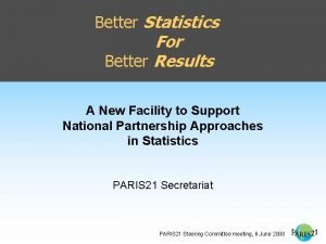 Better Statistics For Better Results A New Facility