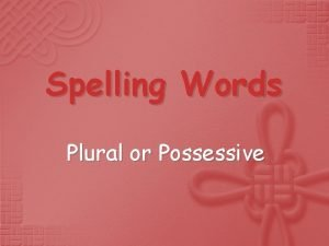 Spelling Words Plural or Possessive countrys countries countries
