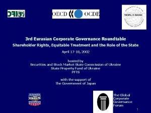 3 rd Eurasian Corporate Governance Roundtable Shareholder Rights