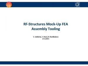 RFStructures MockUp FEA Assembly Tooling V Soldatov F