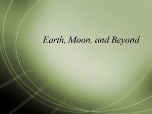 Earth Moon and Beyond Earth and the Moon