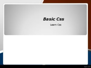 Basic Css Learn Css What is CSS Cascading