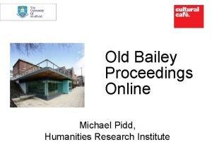 Old Bailey Proceedings Online Mi Michael Pidd Humanities