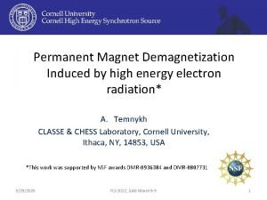 Permanent Magnet Demagnetization Induced by high energy electron