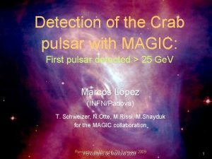Detection of the Crab pulsar with MAGIC First