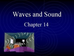 Waves and Sound Chapter 14 Characteristics of Waves
