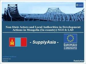 NonState Actors and Local Authorities in Development Actions