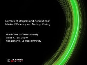 Rumors of Mergers and Acquisitions Market Efficiency and