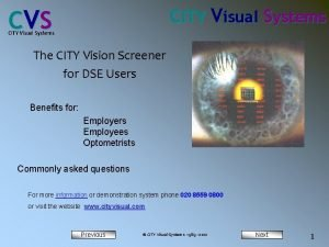 CITY Visual Systems C VS CITY Visual Systems