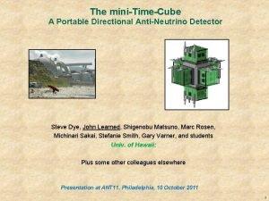 The miniTimeCube A Portable Directional AntiNeutrino Detector Steve