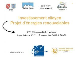 Saint Mury Monteymond Laval Investissement citoyen Projet dnergies
