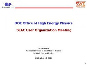 Department of Energy Office of Science DOE Office