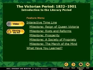 The Victorian Period 1832 1901 Introduction to the
