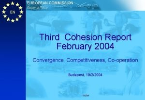 EUROPEAN COMMISSION Regional Policy EN Third Cohesion Report