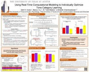 Using RealTime Computational Modeling to Individually Optimize Tone