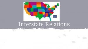 Interstate Relations Article IV Relations Among the States