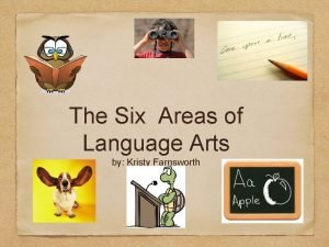 The Six Areas of Language Arts by Kristy