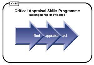 CASP Critical Appraisal Skills Programme making sense of