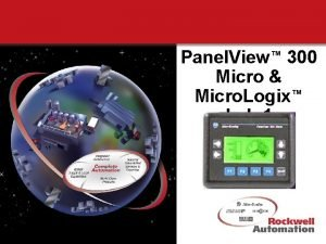 Panel View 300 Micro Micro Logix Lab 1