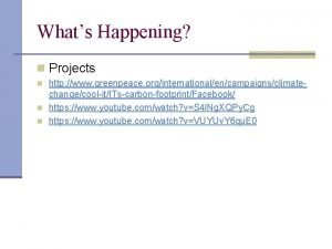 Whats Happening n Projects n http www greenpeace